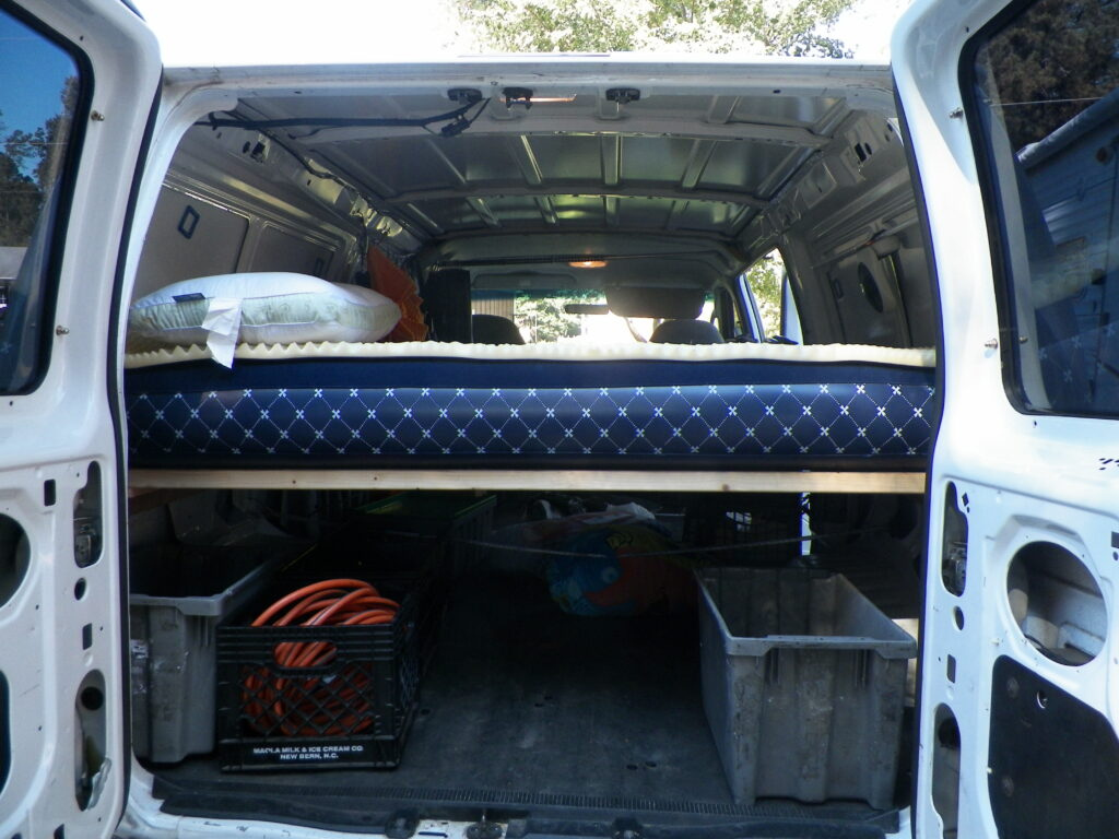 Building a Simple Removable Bed in Our Cargo Van