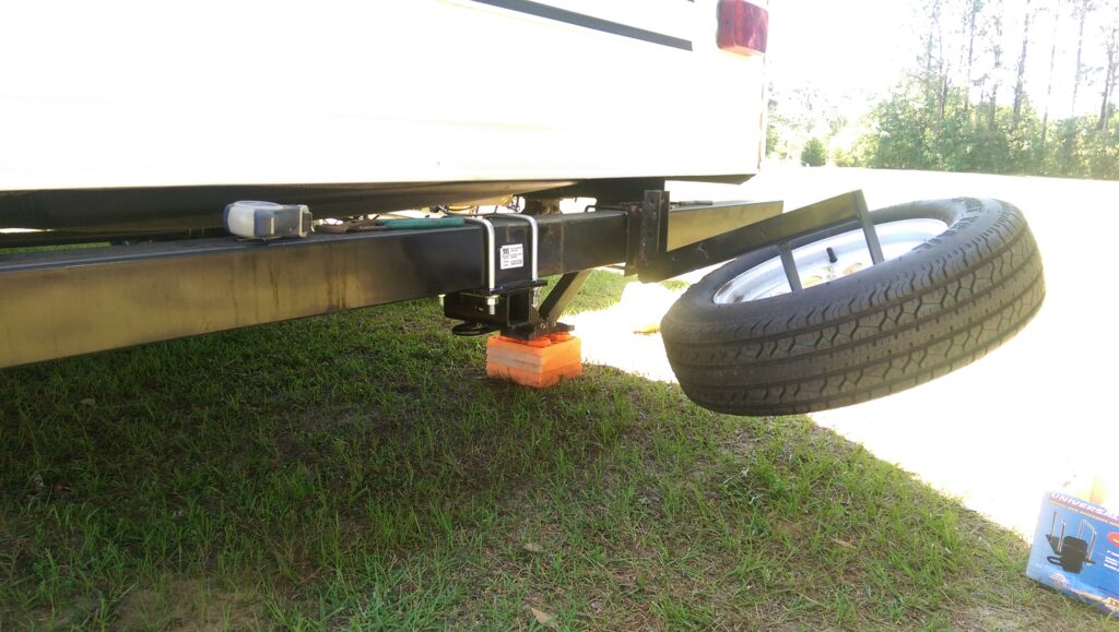 Adding A Simple Hitch Receiver To Our Travel Trailer Rear