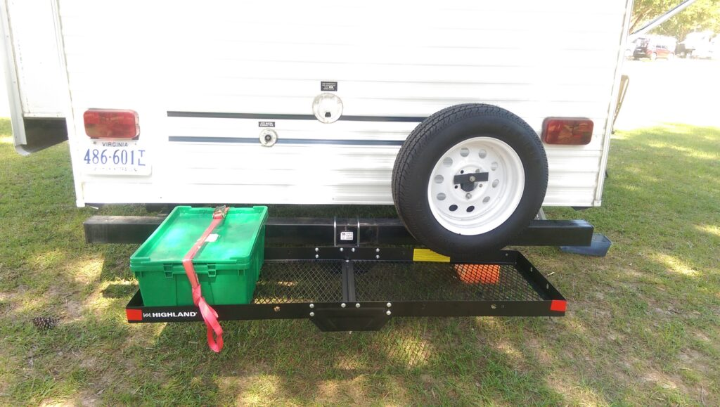 Adding a Simple Hitch Receiver to Our Travel Trailer Rear Bumper