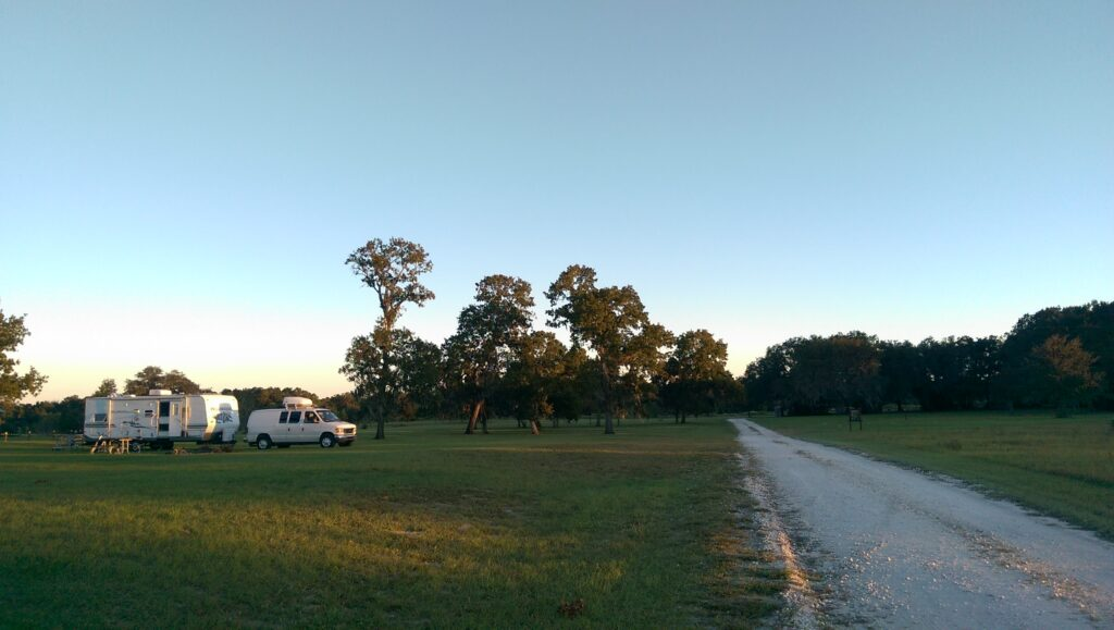 Camping at Lake Panasoffkee, Wildwood, Florida