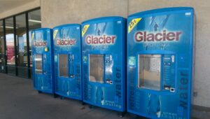 Glacier Water Fill Station Outside of Grocery Store