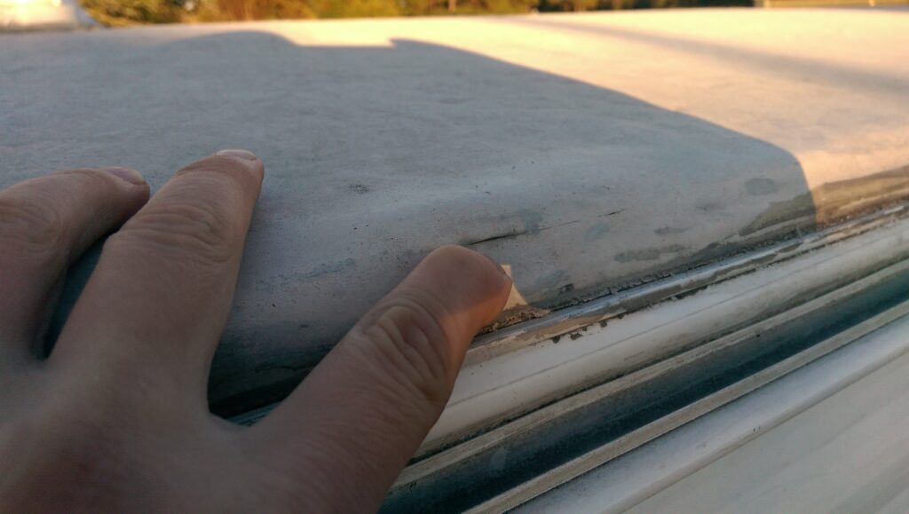 First Rubber Roof Damage to Our RV