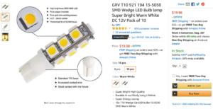 LED Bulbs on Amazon