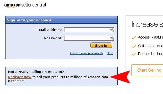 amazon seller central sign up